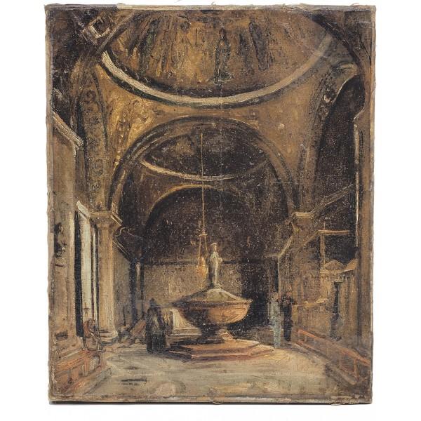 Artista Veneziano, Il Battistero di San Marco - XIX Secolo