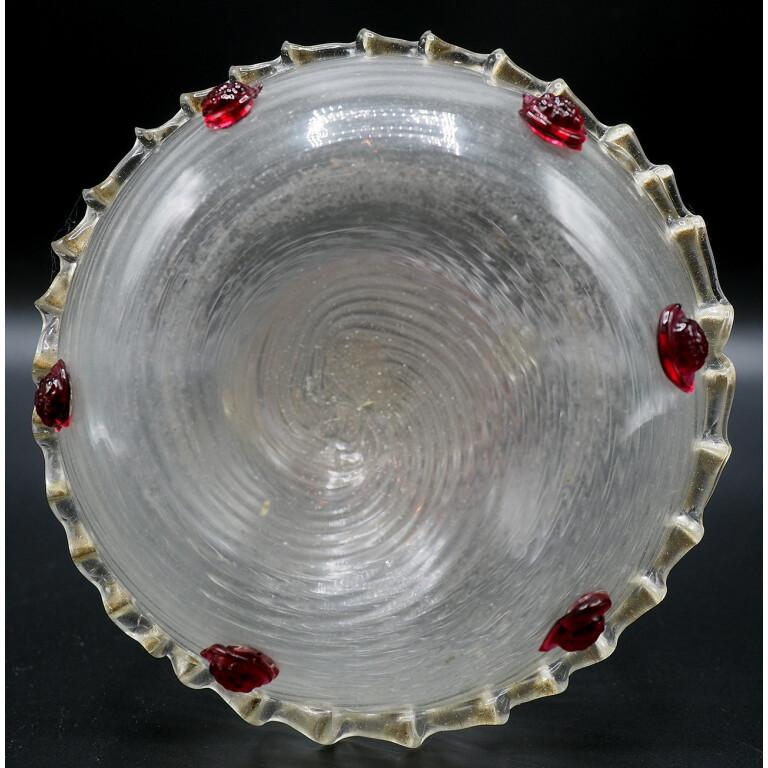 Bottiglia a Spirale in Vetro Soffiato di Murano - XIX Secolo