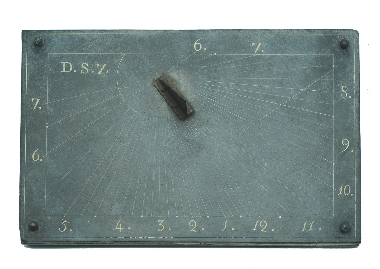 Meridiana da Appoggio con incise iniziali D.S.Z. - Italia, XVIII Secolo