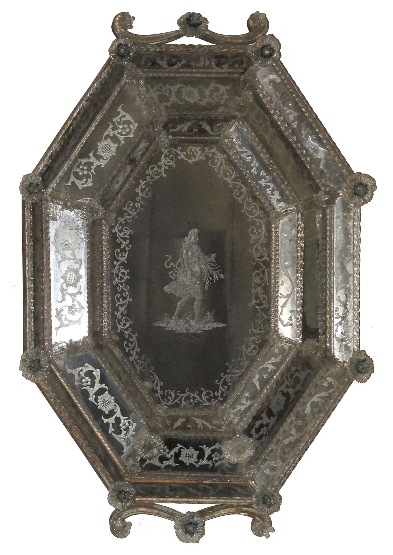 Antica Specchiera Veneziana - XIX Secolo
