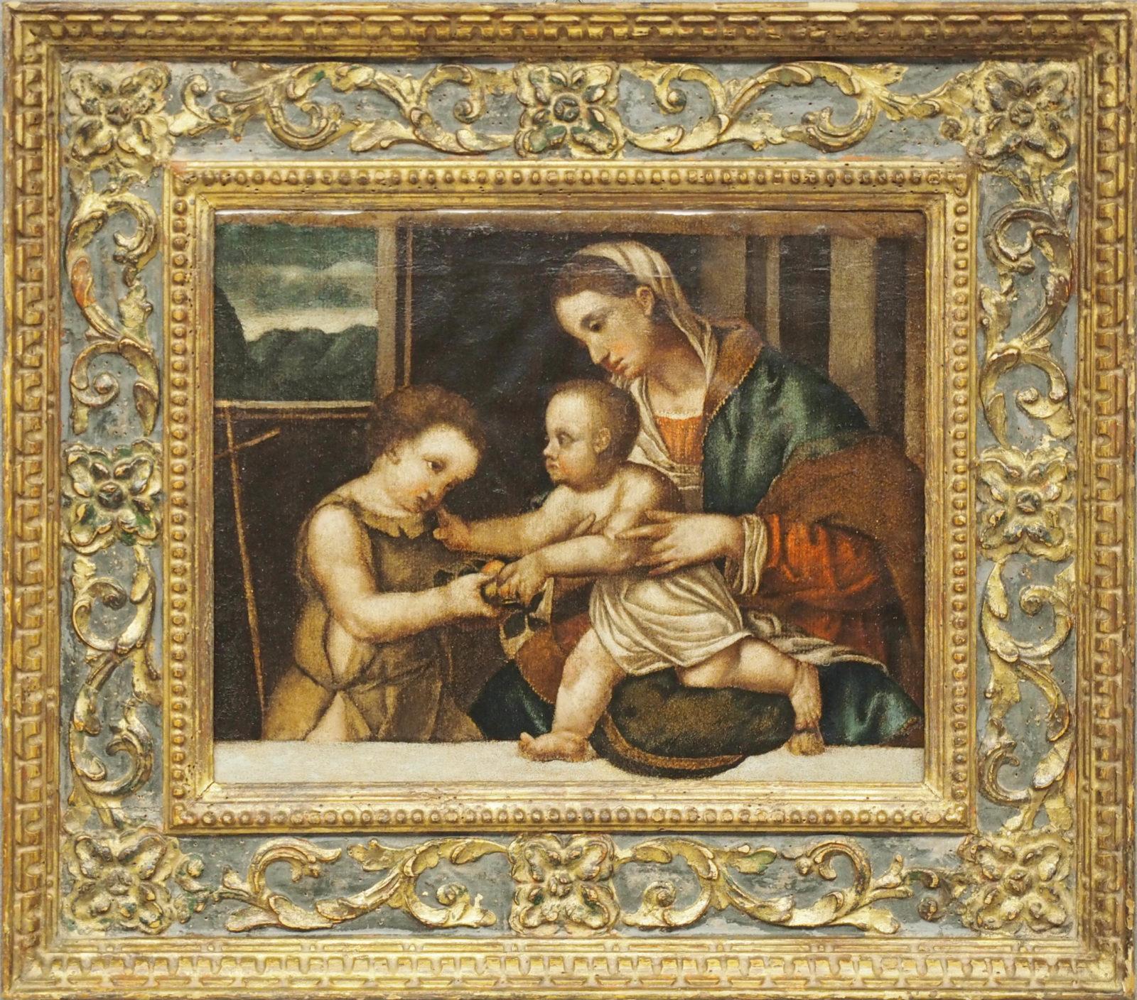 Scuola Veneta, Madonna col Bambino e San Giovannino - XVII Secolo