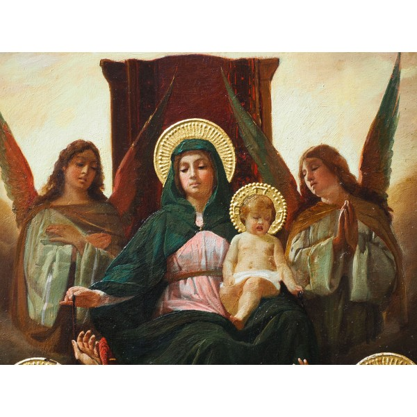 Madonna col Bambino tra angeli e santi