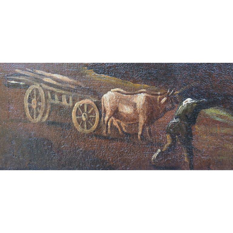 Scuola di Marco Ricci, Paesaggio al Tramonto con Figure - XVIII Secolo