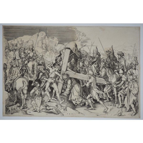 Martin Schongauer, La salita al Calvario - XVII Secolo