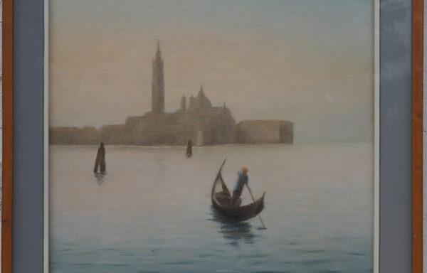 M. Micene, Veduta di San Giorgio con Gondoliere – XX Secolo