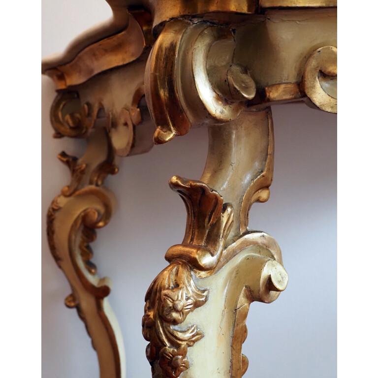 Console legno laccato e dorato