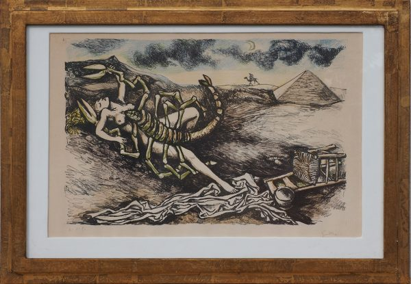 """Renato Guttuso, Litografia """"Lo Scorpione"""" - XX Secolo"""