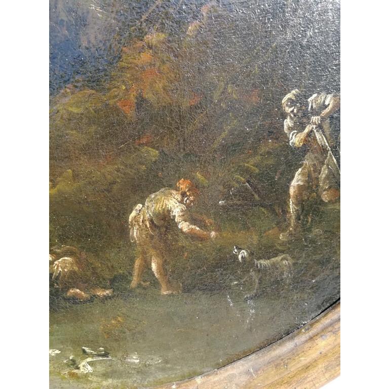 Antonio Francesco Peruzzini, Paesaggio con Figure - XVII Secolo