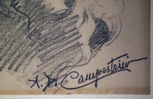 Alcide Davide Campestrini, San Girolamo - Firma