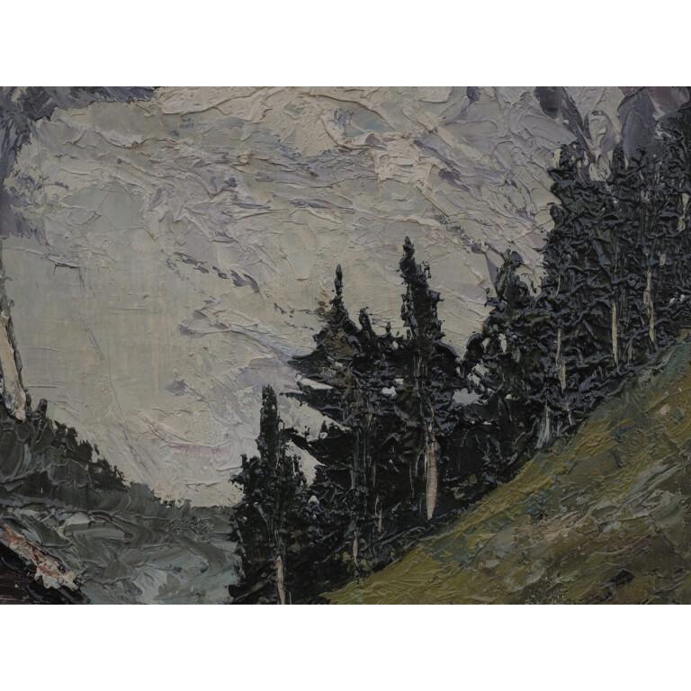 Willy Jager, Paesaggio Alpino con Casolare - XX Secolo