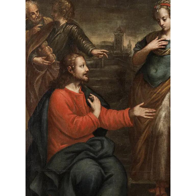 Maestro Veneziano del XVI Secolo, Cristo e La Samaritana