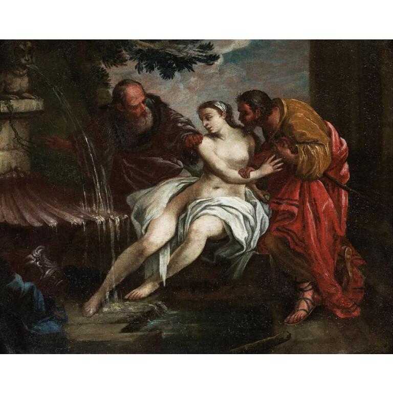 Scuola Francese del XVIII Secolo, Susanna e i Vecchioni