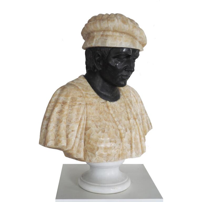 Coppia di Busti in Marmo - Italia, XIX Secolo