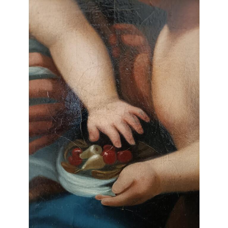 Copia da Correggio di Pittore attivo nel XIX Secolo, Madonna del Latte e un Angelo