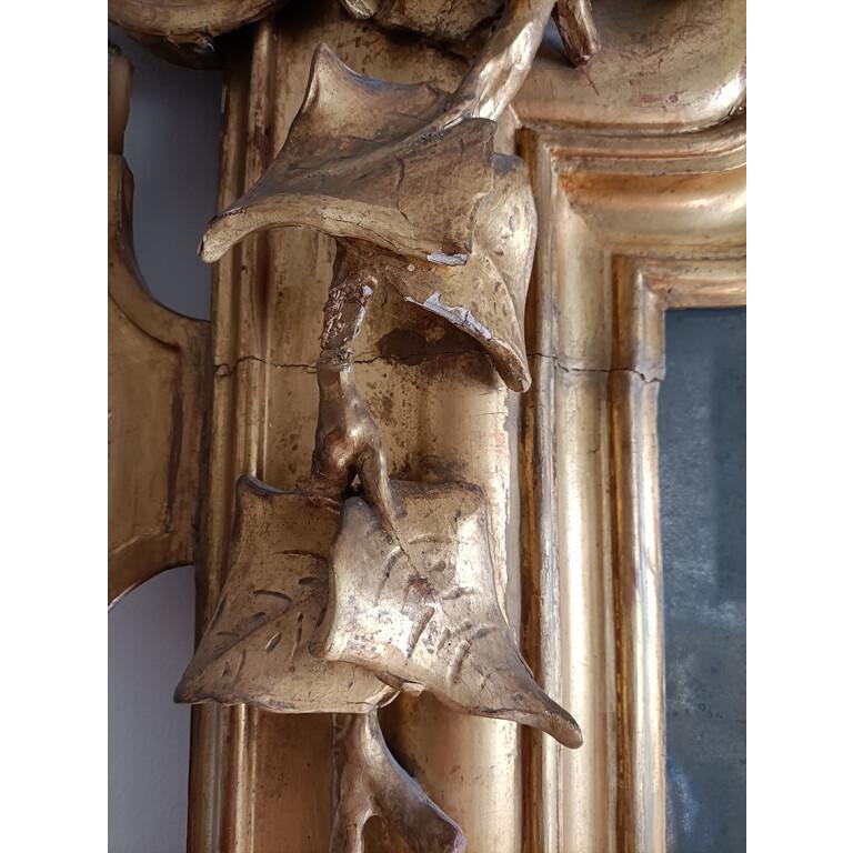 Specchiera Caminiera in Legno Dorato - Italia, XIX Secolo