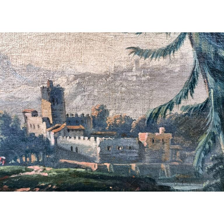 Jean-Baptiste Pillement, Paesaggio Campestre con Figure - XVIII Secolo