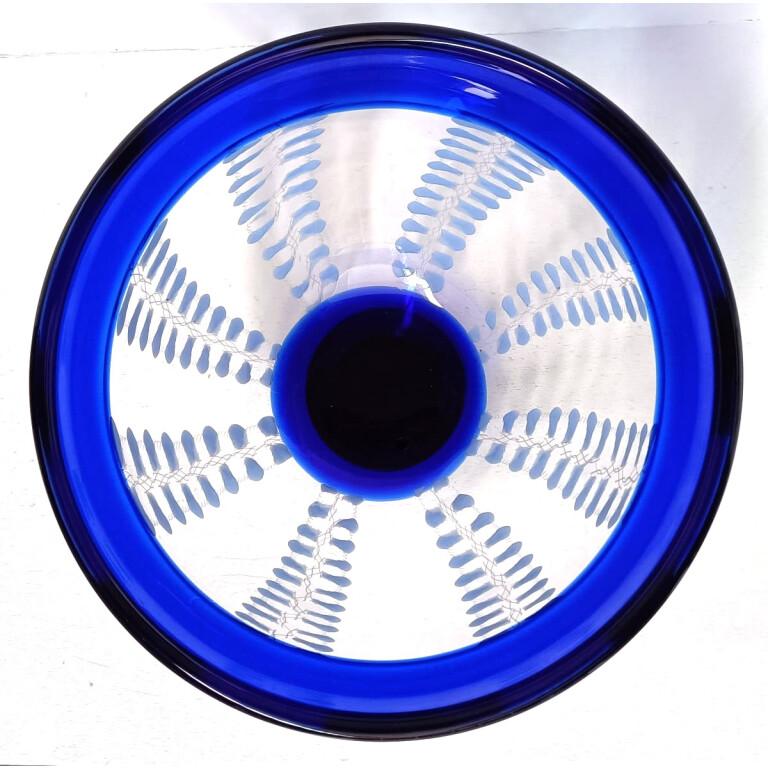 Seguso Viro, Coppa Glicine Blu in Vetro di Murano - 1996
